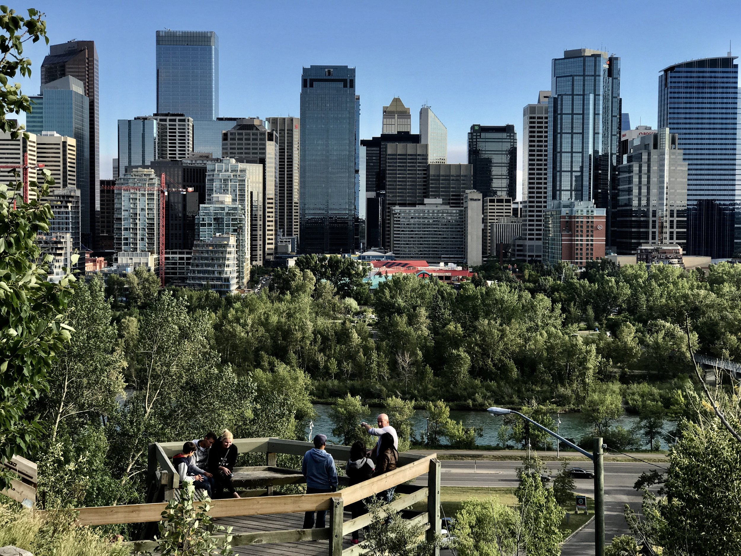 Calgary's Crescent Height stairs not only offer a great workout but spectacular views of downtown and the Rocky Mountains..
