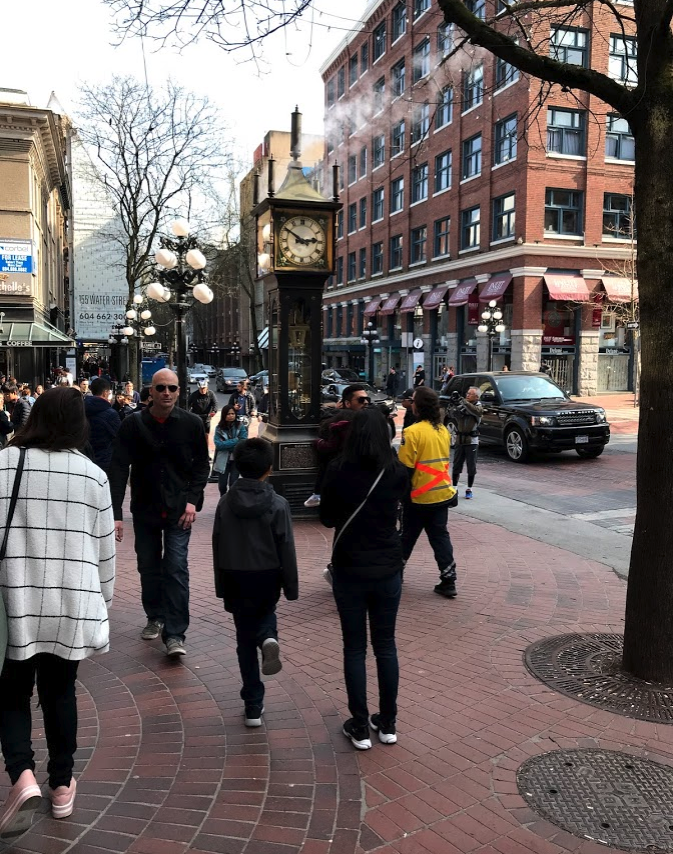 Vancouver's Gastown is very popular with tourists.