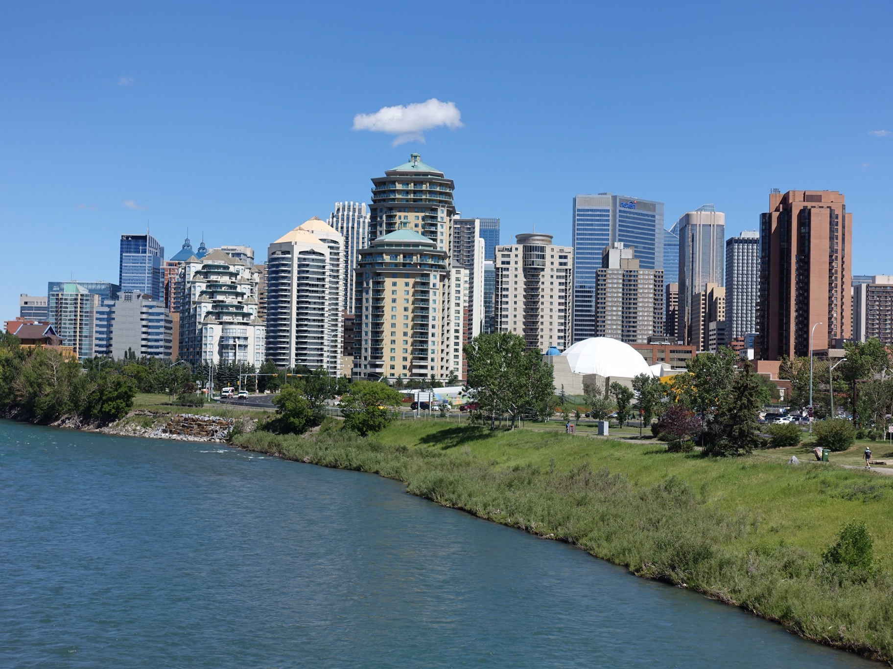 Calgary's Downtown West shoreline.