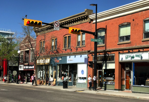 Calgary's Kensington Village has two Main Street - 10th St and Kensington Road.