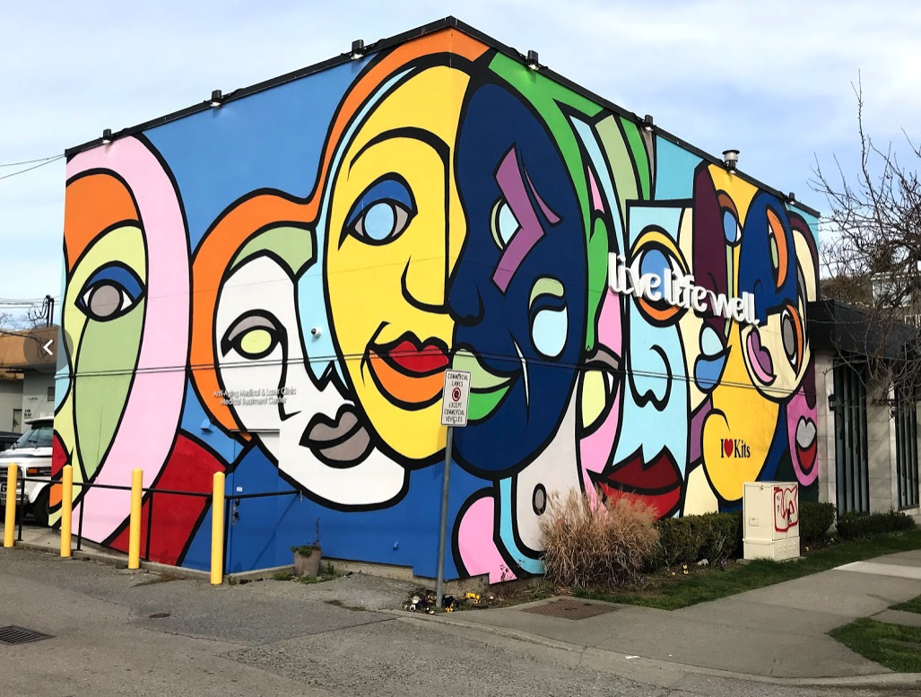Kitsilano has several fun murals.