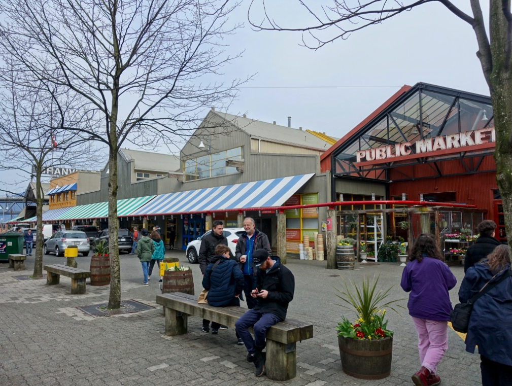 Vancouver's City Centre is also home to Granville Island with its Public Market.