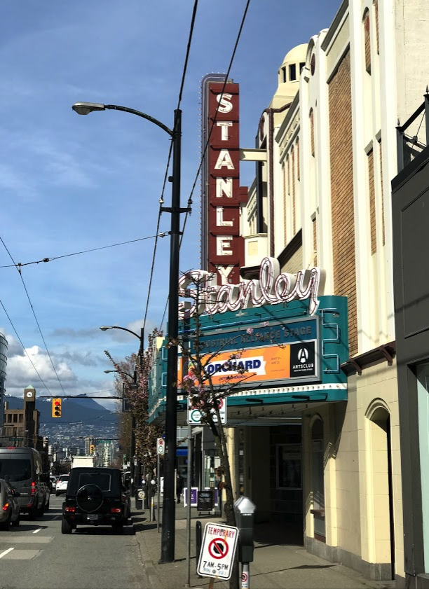 The Stanley Theatre anchors South Granville street.