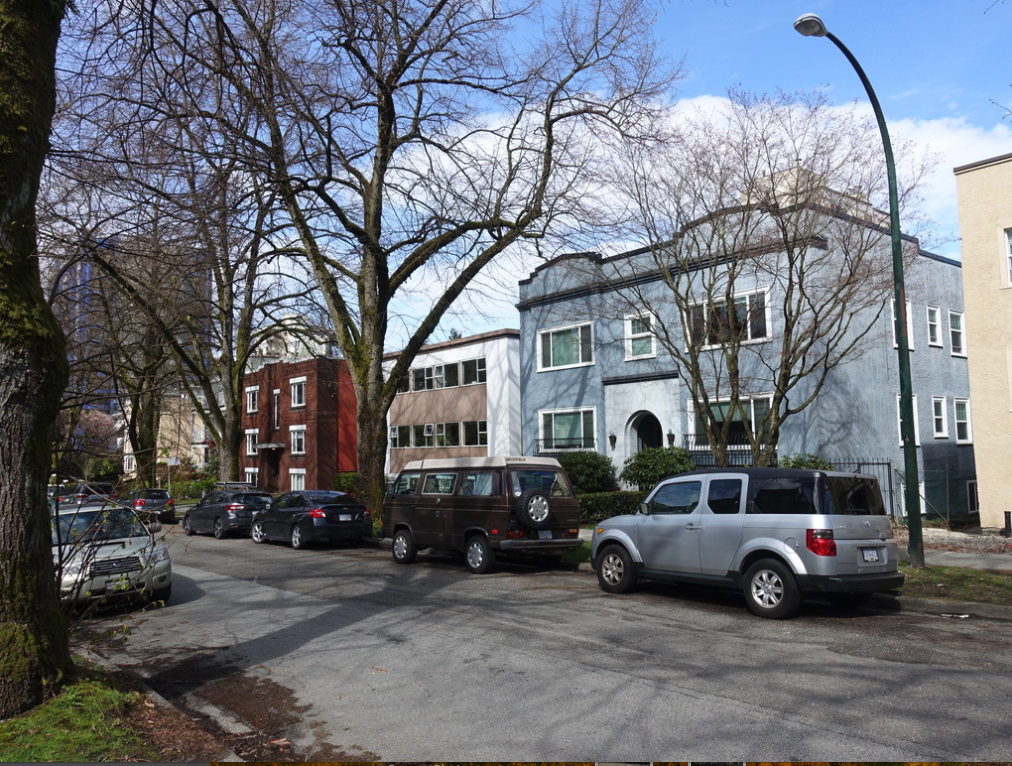The side street next to South Granville have lots of smaller apartments, very similar to those found in Calgary's Mission and Cliff Bungalow.