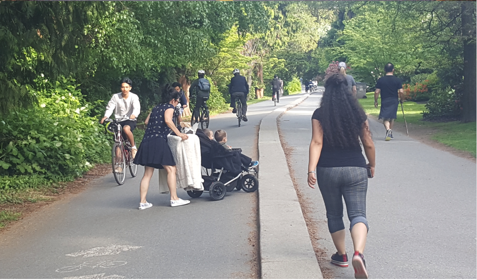 It is a bit of free-for-all along Vancouver's pathways says Everyday Tourist reader Roy Brander (photo credit: Roy Brander)