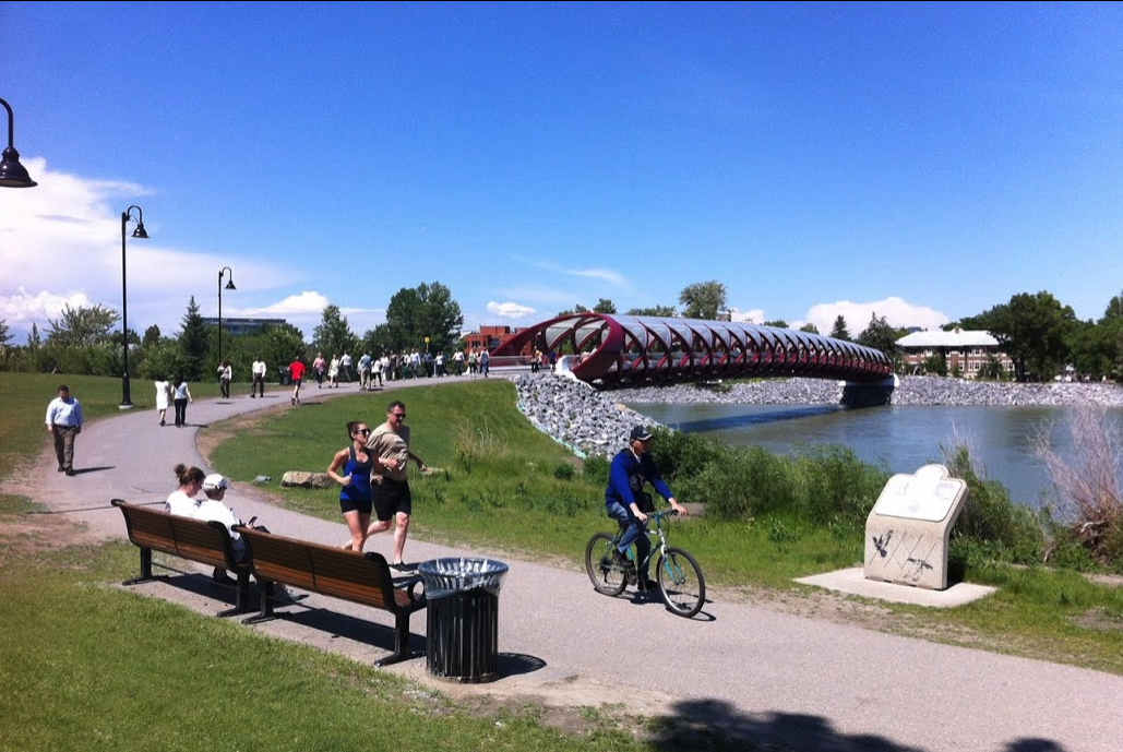 For the most part, Calgarians seem to be able to share the river pathways.