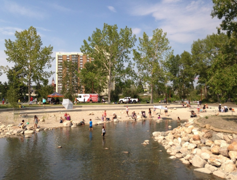 East Village's St. Patrick's Island's pebble beach is popular with families as there are lots of weekend programs in the summer.