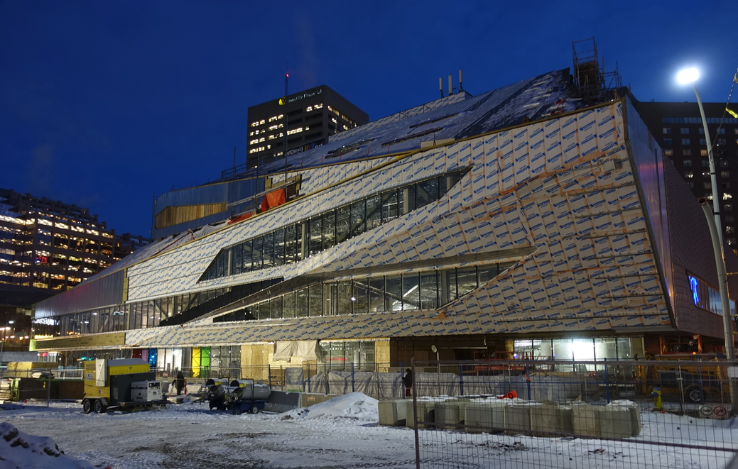 Edmonton's renovated Central Library which sits on a prominent site in Churchill Square, will join the Art Gallery of Alberta and their City Hall as signature architectural gems.