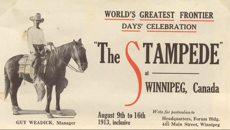 "Yes the Stampede was held in Winnipeg in 1913. Imagine how Calgary and Winnipeg would be different today if Winnipeg was home of the ""Greatest Outdoor Show On Earth"" not Calgary."