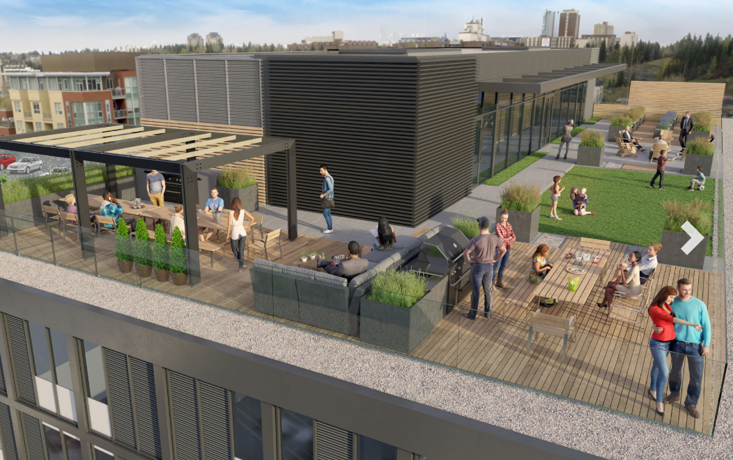Computer rendering of new Annex in Kensington condo's rooftop amenities.
