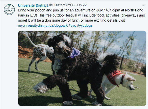 University District is also very active promoting its events on social media.