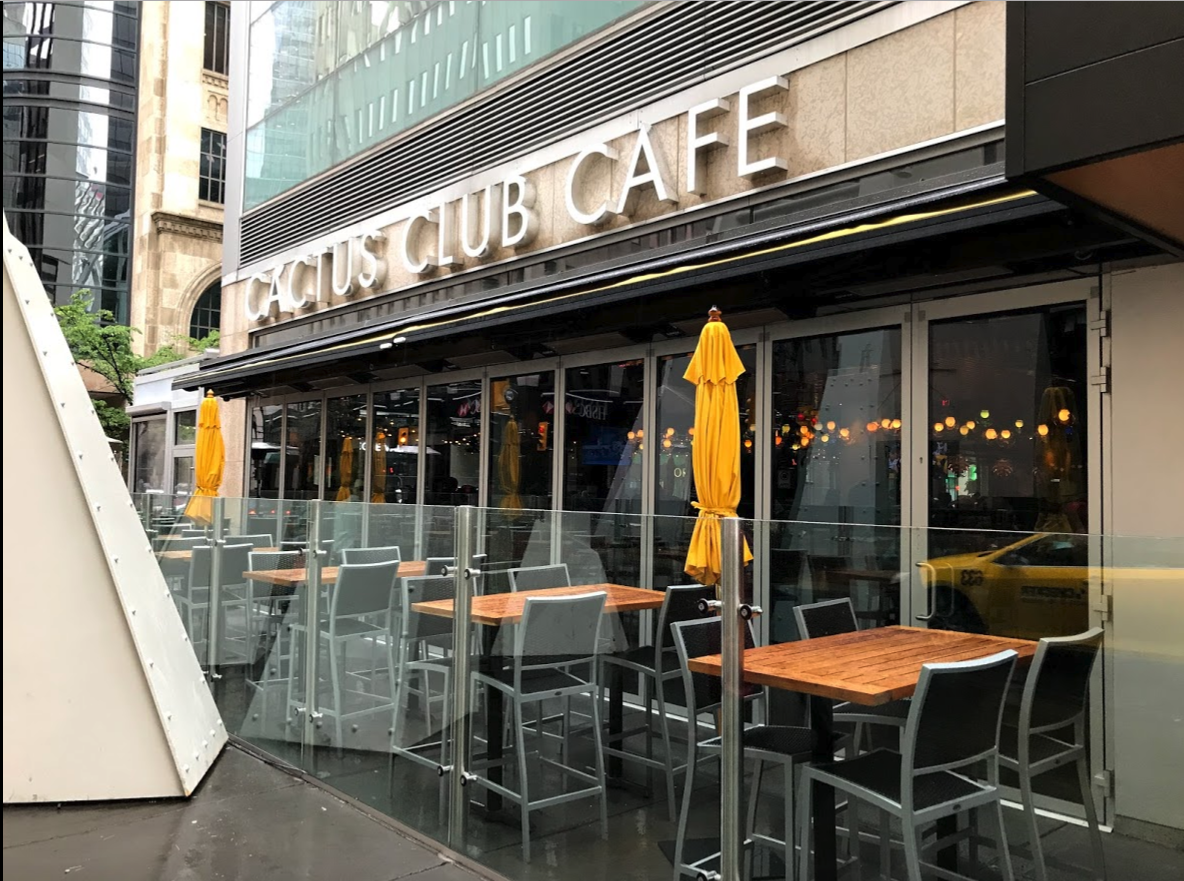 The Cactus Club Cafe's Stephen Avenue location makes no reference to the Stampede from the street.