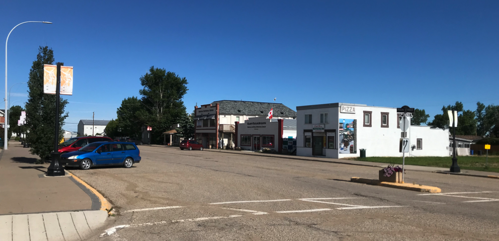 Main Street Irricana.