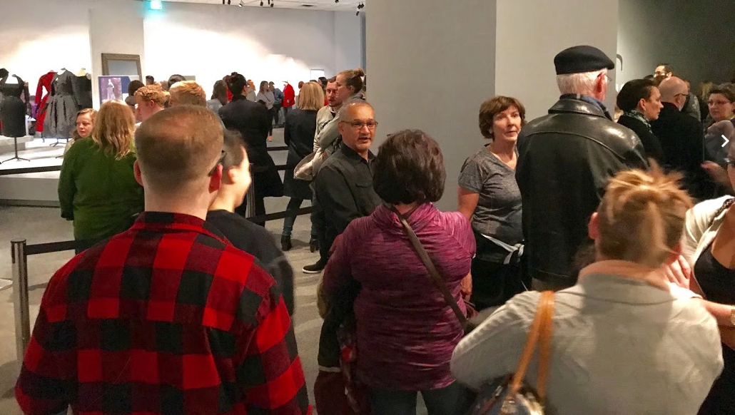 Calgary's Glenbow Museum is packed on Free First Thursday nights.