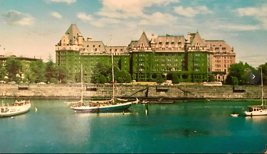 inner harbour with Empress Hotel in background, Victoria, B.C.