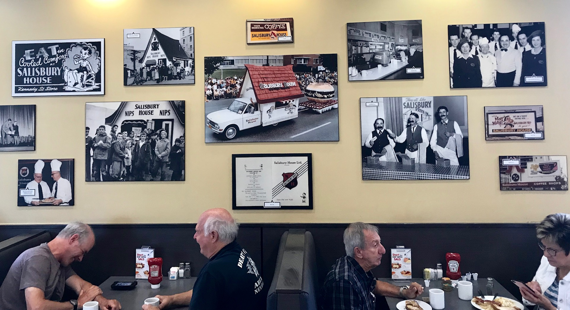 The walls of every Salisbury House are full of photos that document the evolution of the restaurant over the past 85+ years.