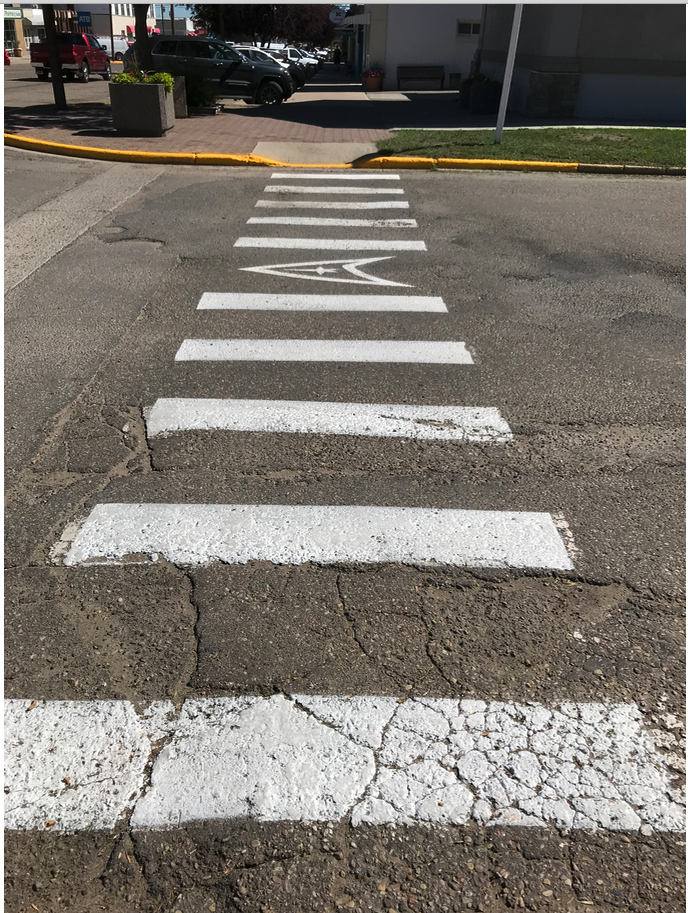 Even the crosswalks have a Star Trek link.