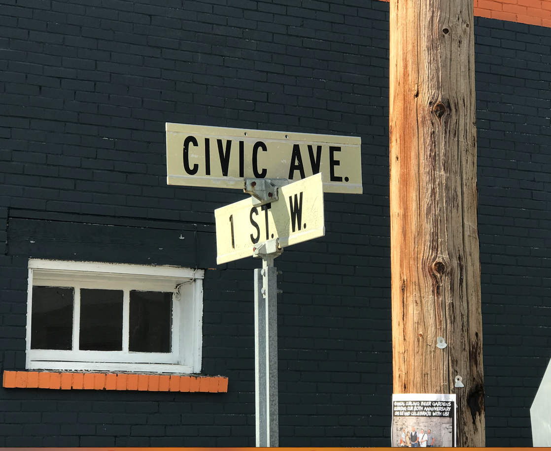I have never seen a Civic Ave in any town or city before.