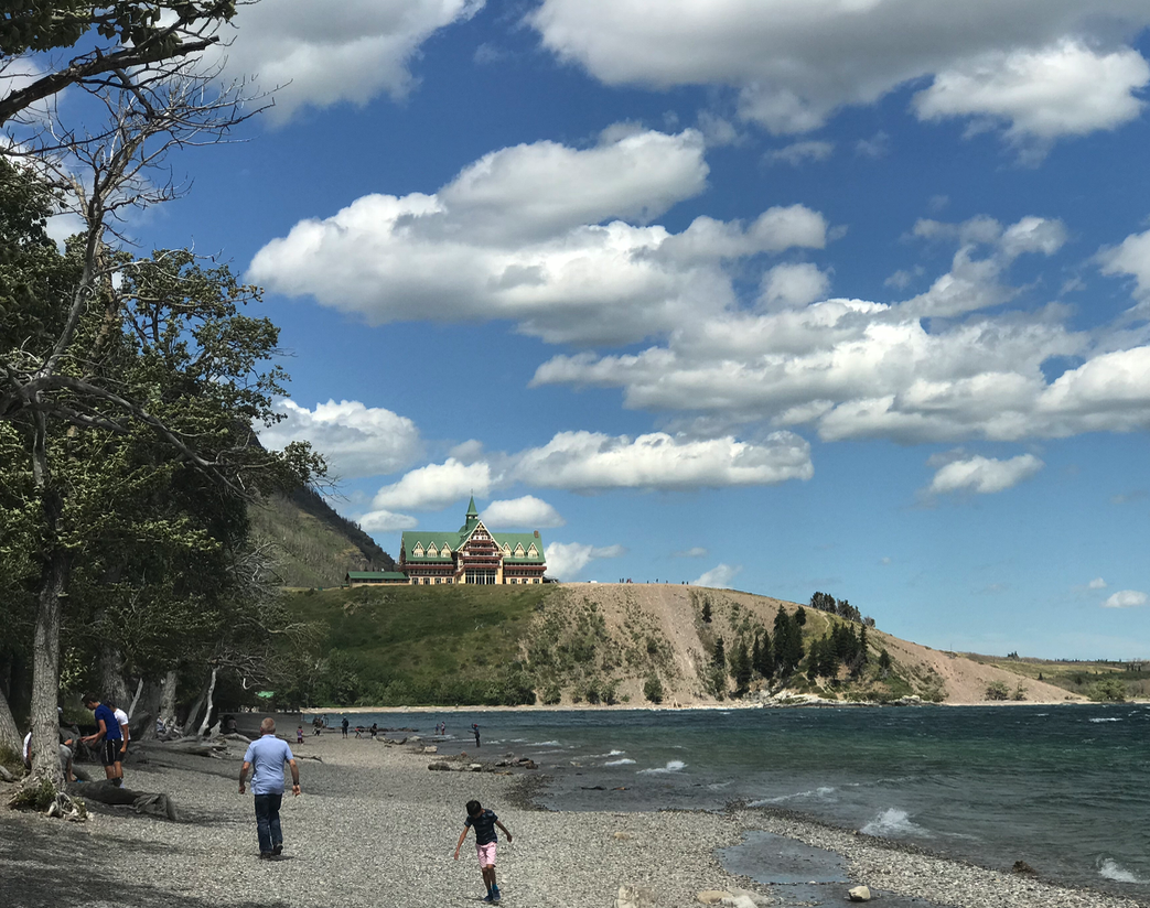Next stop Waterton (population 104) and the majestic Prince of Wales hotel.