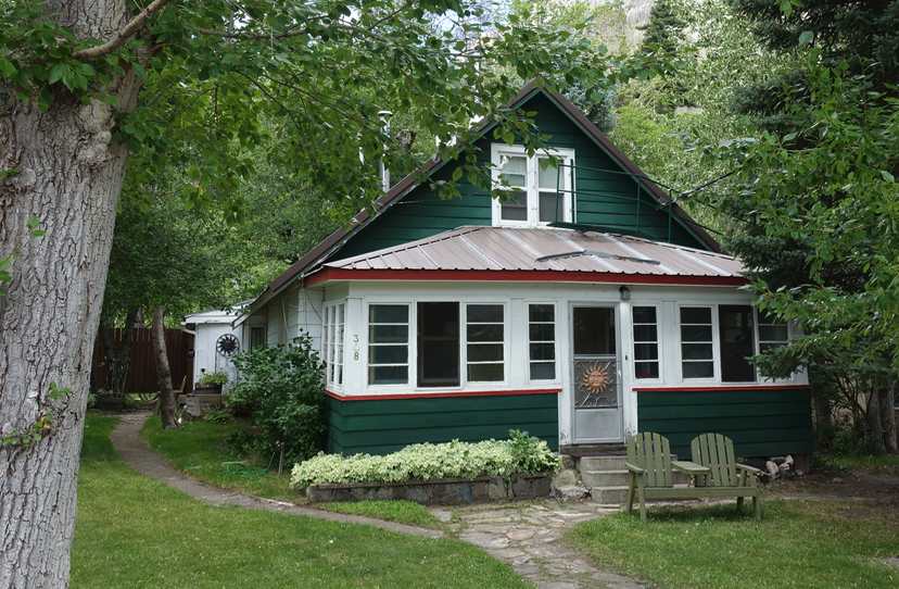 One of the many charming cottages in Waterton.