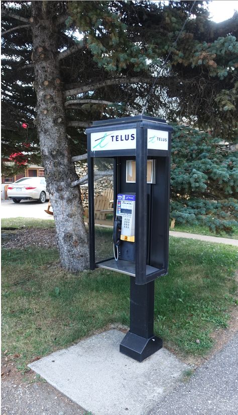 Was surprised to find this 20th century artifact in downtown Waterton.