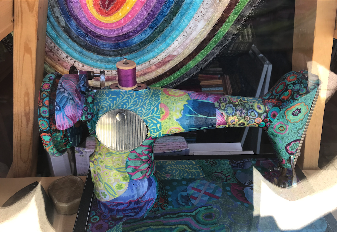 Quilt shop window…