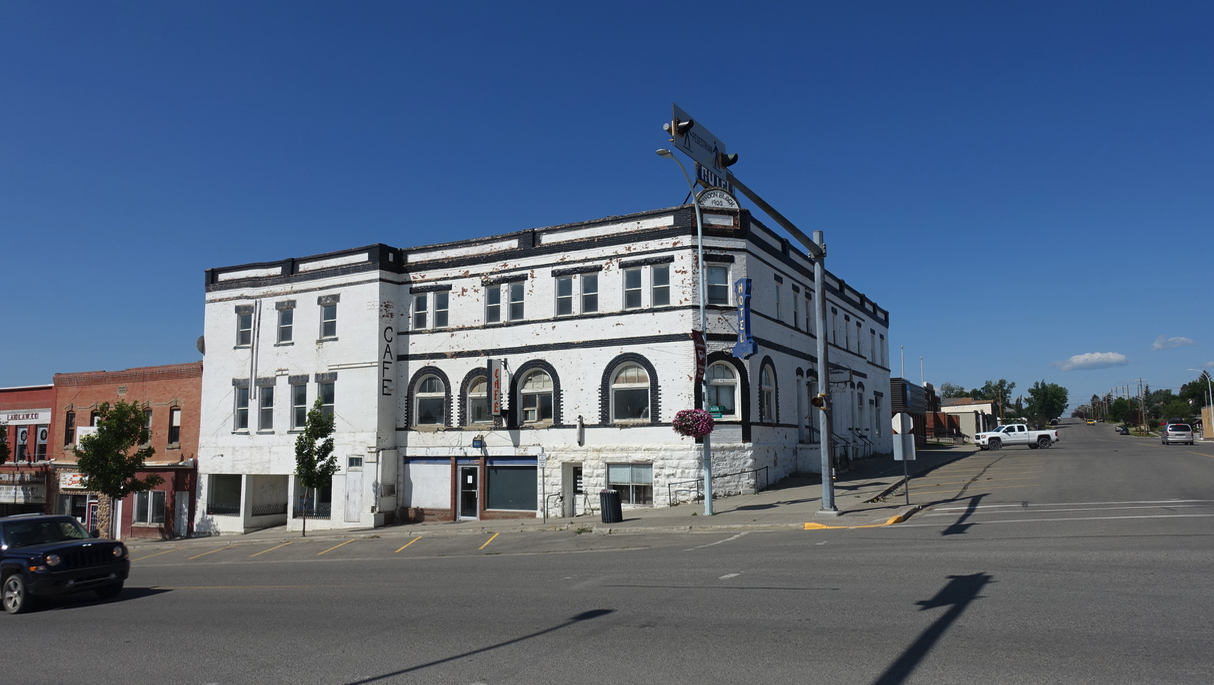 This old hotel dominated Cardston's Main Street like a ghost of past prosperity.