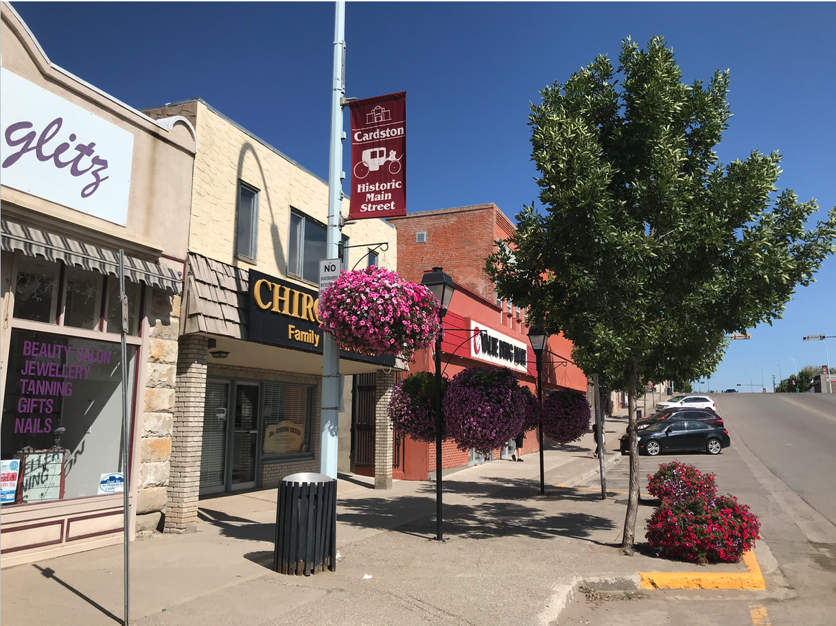 Cardston's lovely historic Main Street was deserted on Saturday morning as everyone was at church.