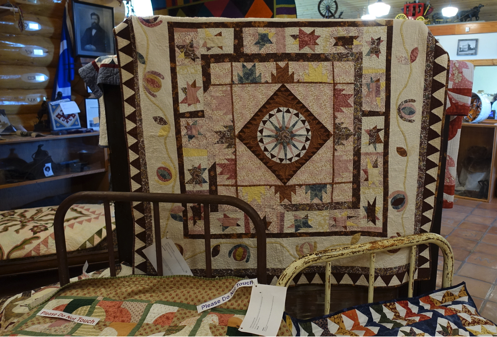 Pincher Creek's Kootenai Brown Pioneer Village is definitely worth a visit. They had an amazing quilt show when we were there.