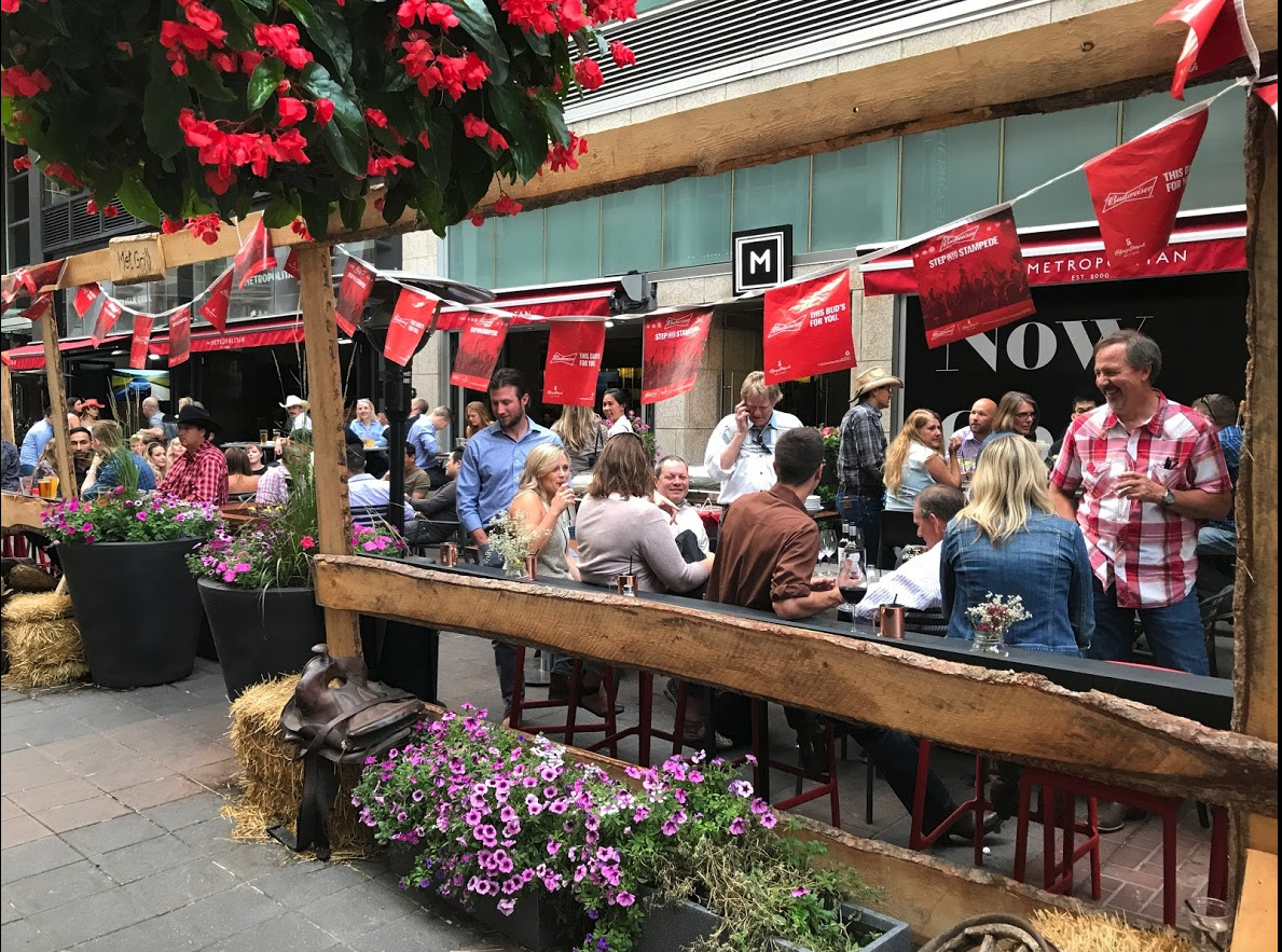 Stephen Avenue has the best collection of patios in Calgary, perhaps Western Canada. it should be as popular as Montreal's Crescent Street.