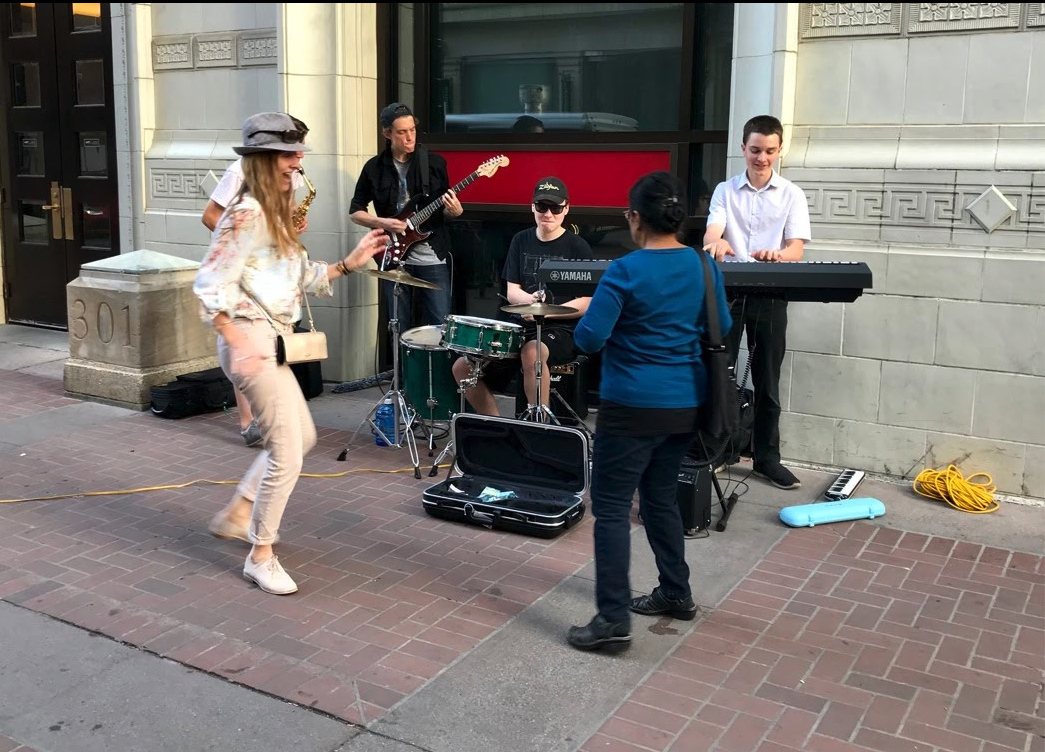 Stephen Avenue needs more small live music venues and street performers.
