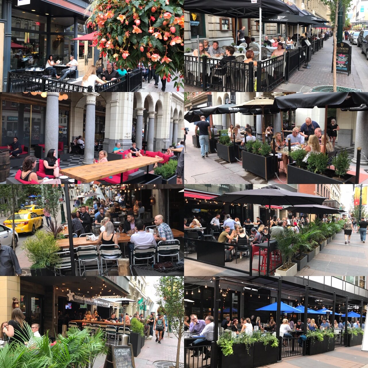 Collage of just some of the Stephen Avenue patios.