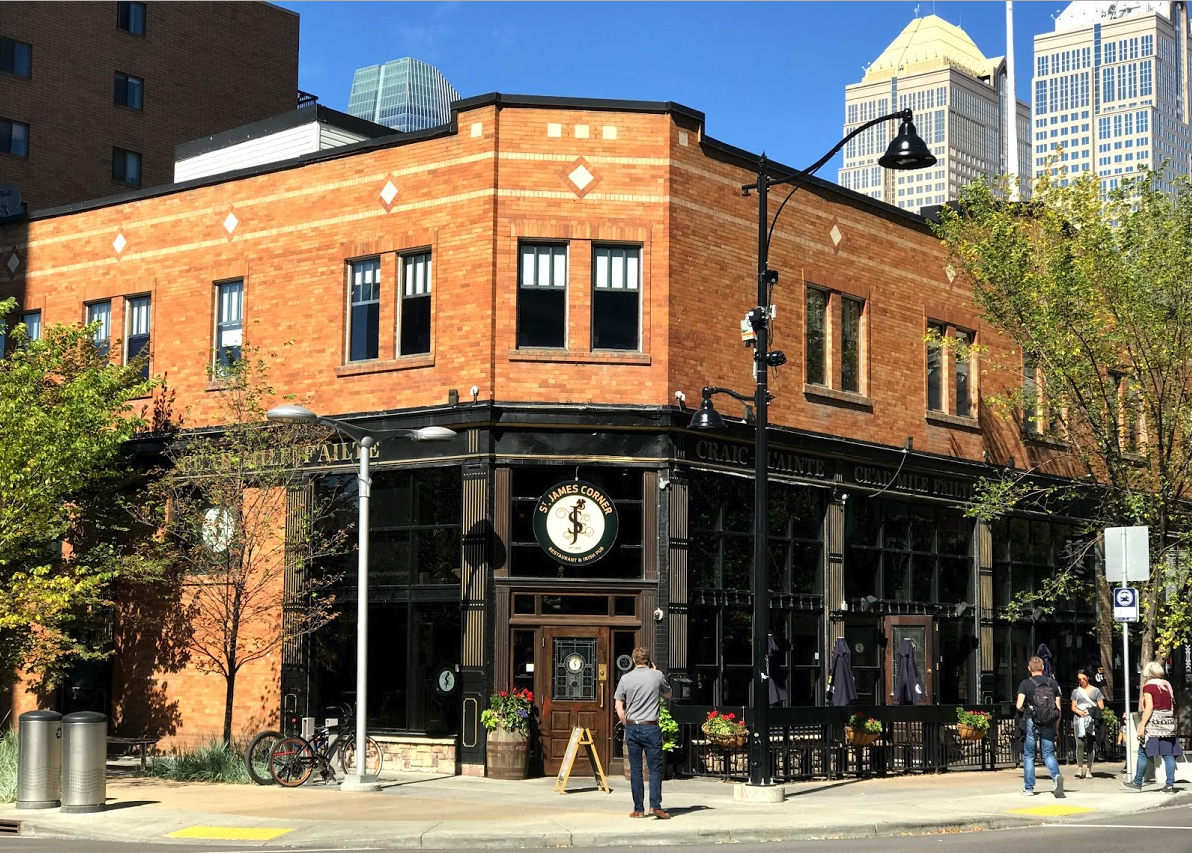 The City Centre also has dozens of neighbourhood pubs like this one on First Street and craft breweries. Over the past 10+ years Calgary's City Centre neighbourhood's have created their own main streets, so no need to go to Stephen Avenue.