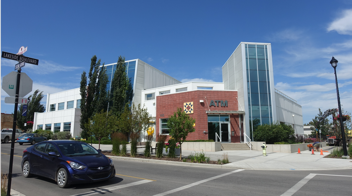 Downtown Strathmore's modern architecture