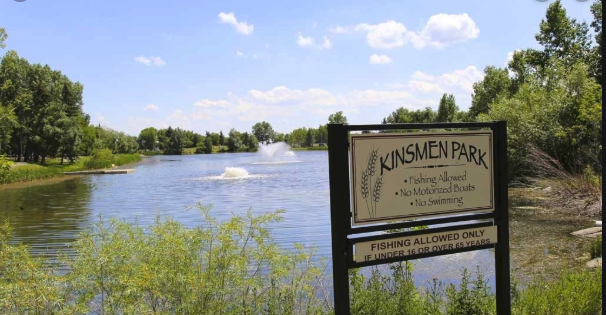 Strathmore's Kinsmen Park is located at one of its downtown main streets.