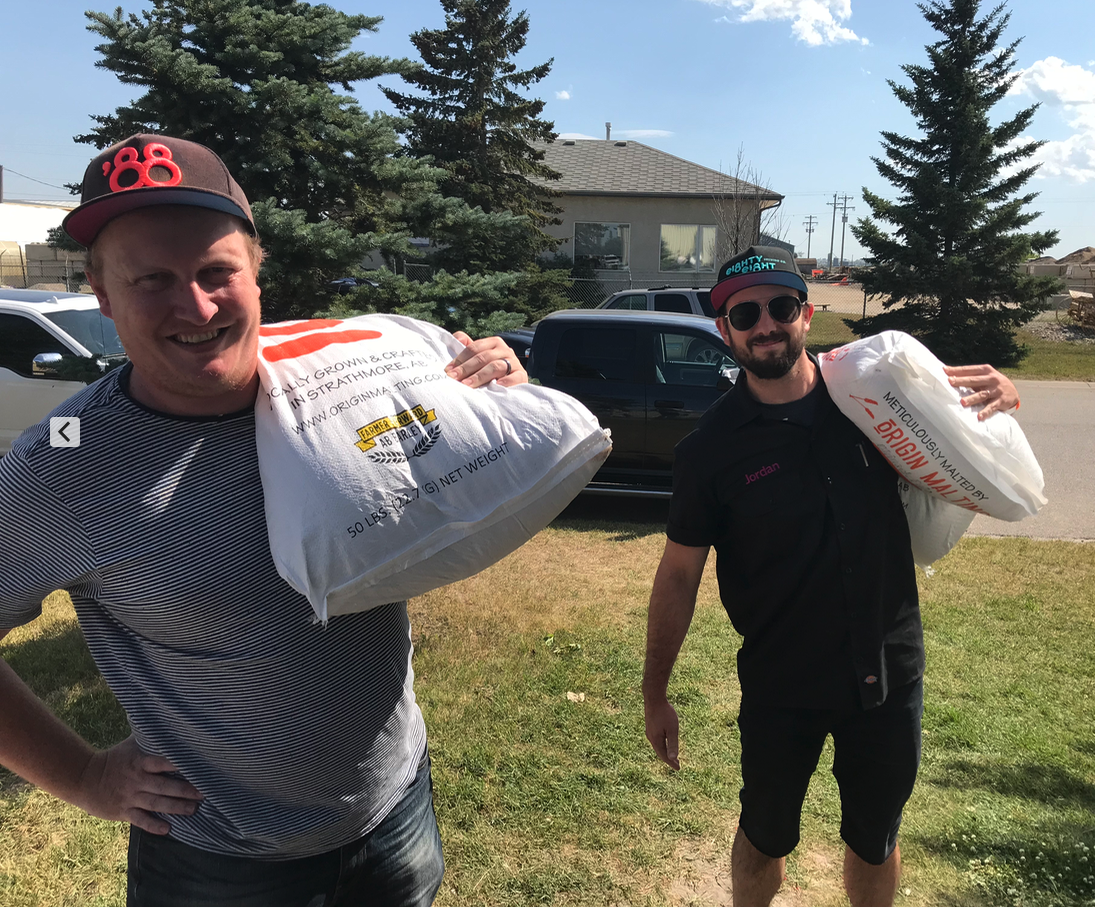 While we were the Eighty-Eight brewing boys were picking up their supplies.
