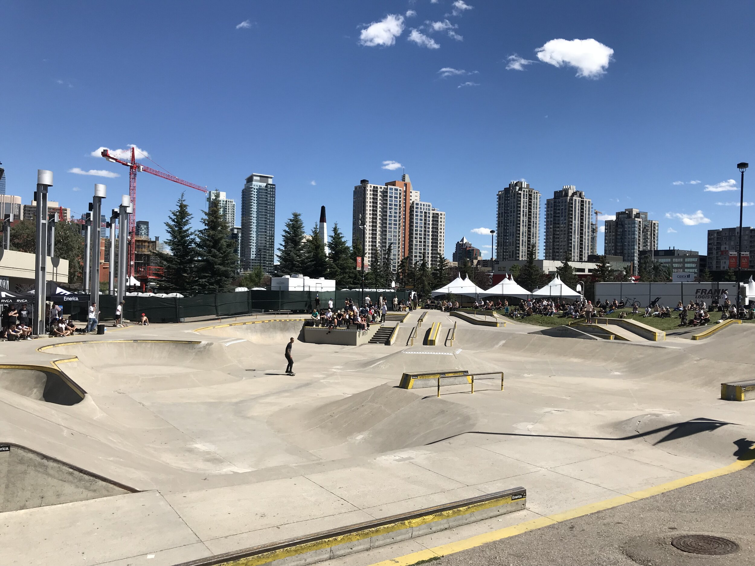 And just across the street is Shaw Millennium Park, a popular festival site and home to one of the largest public skateparks in the world - at 75,000 square feet. Other amenities include basketball and beach volleyball courts.