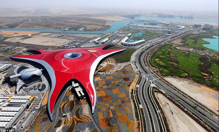 Ferrari World theme park in Dubai.