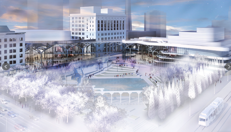 Conceptual rendering of what the redevelopment and expansion of Arts Commons around Olympic Plaza could look like. (photo credit: Arts Commons website)