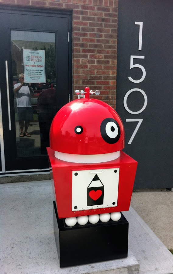 Robots & Pencils' front yard is a reminder that Sunalta is home to numerous fun, funky and quirky small businesses.