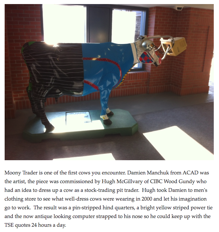 I sure hope Calgary Parking Authority and the Downtown Association don't decide to close the Udderly Art Pasture in the +15 of the Centennial Parkade.