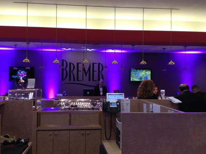 Elegant Room Lighting at Bremer Jewelry