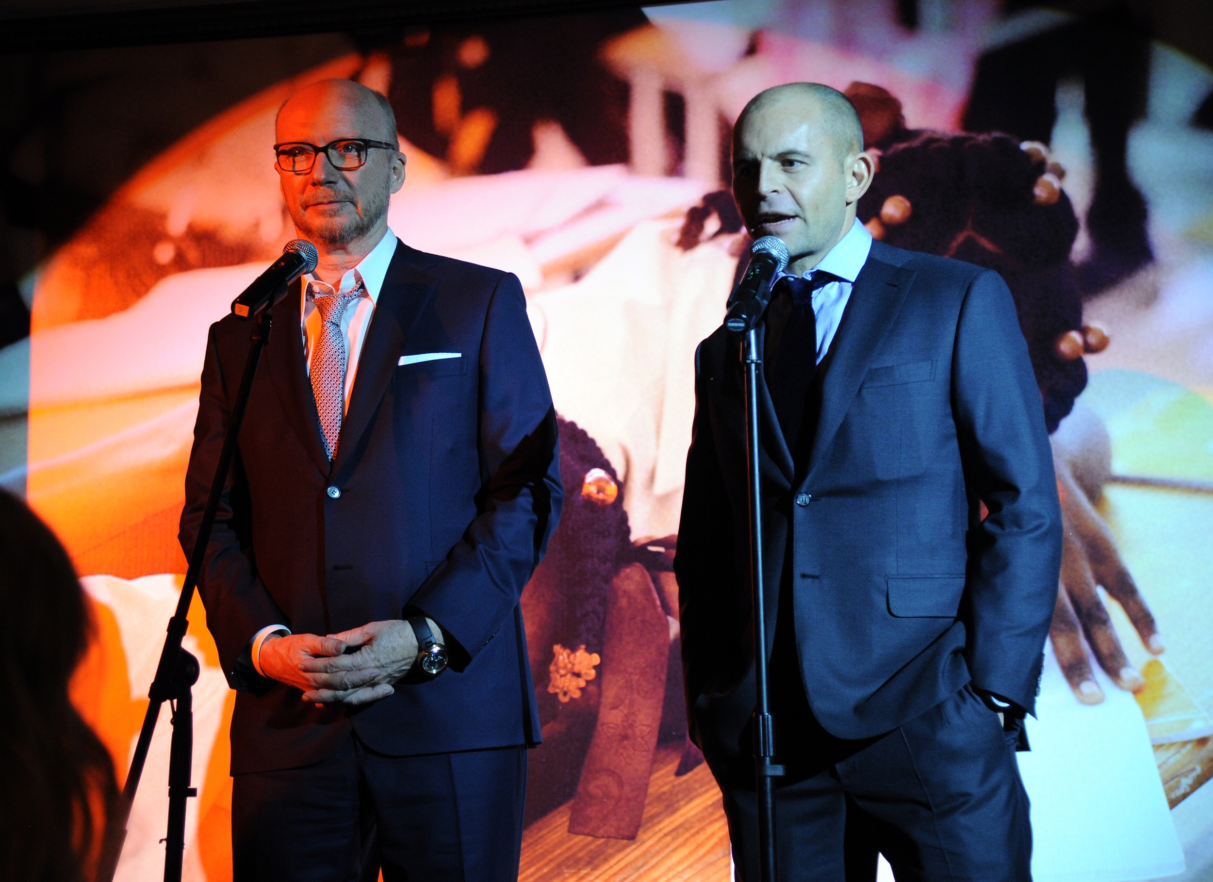 ARTISTS FOR PEACE AND JUSTICE FOUNDER PAUL HAGGIS AND CEO DAVID BELLE