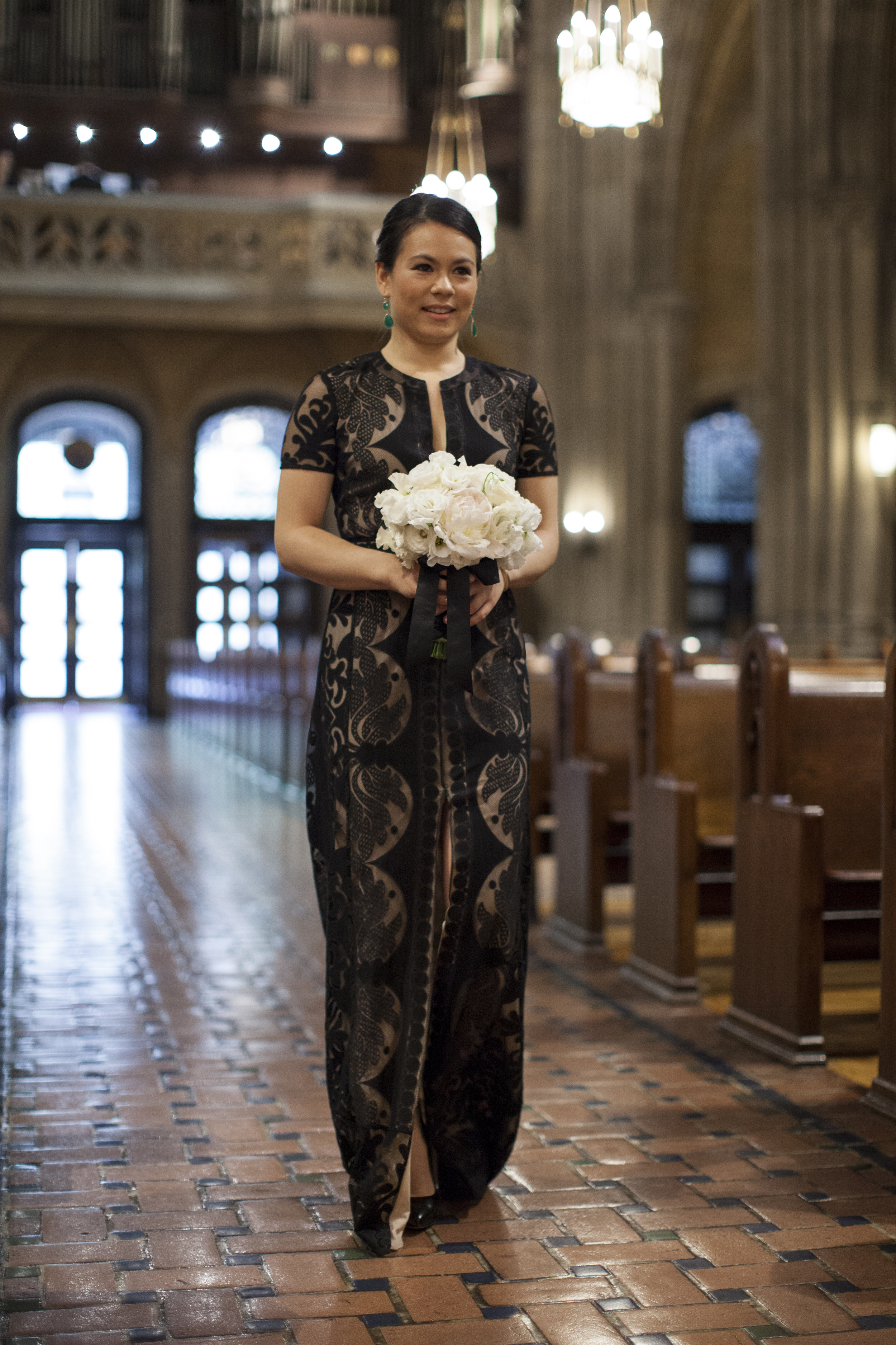MAID OF HONOR IN ELEGANT BLACK LACE