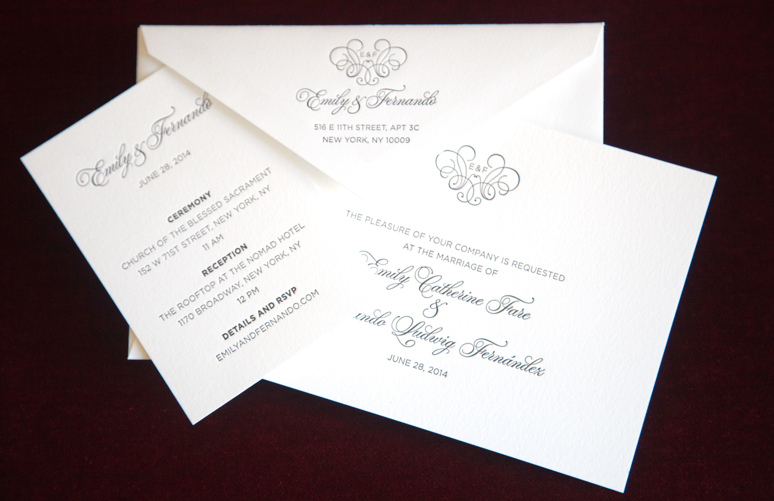 LETTERPRESS INVITES PRINTED BY THE GROOM