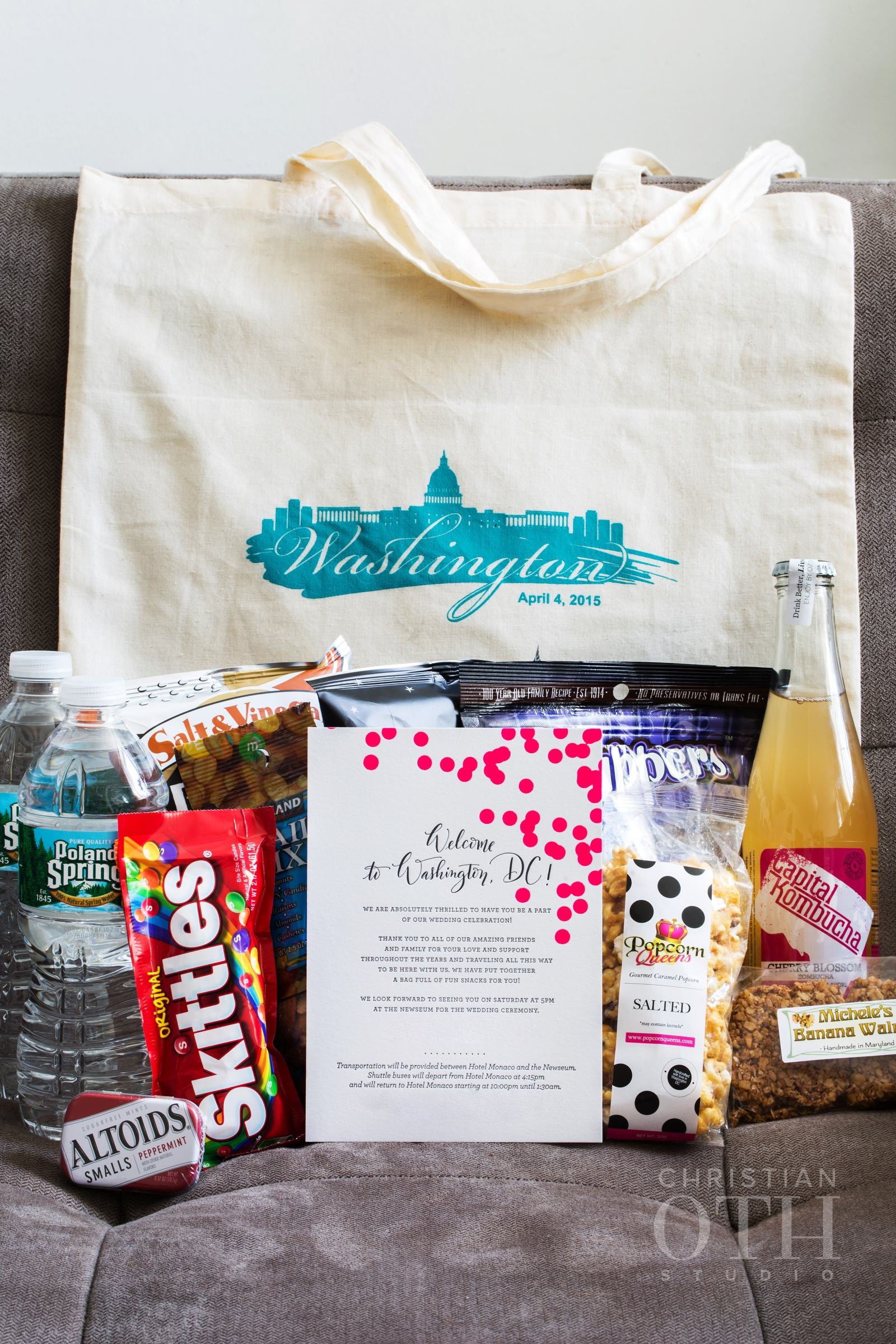 WASHINGTON DC-THEMED WELCOME BAG & NOTE