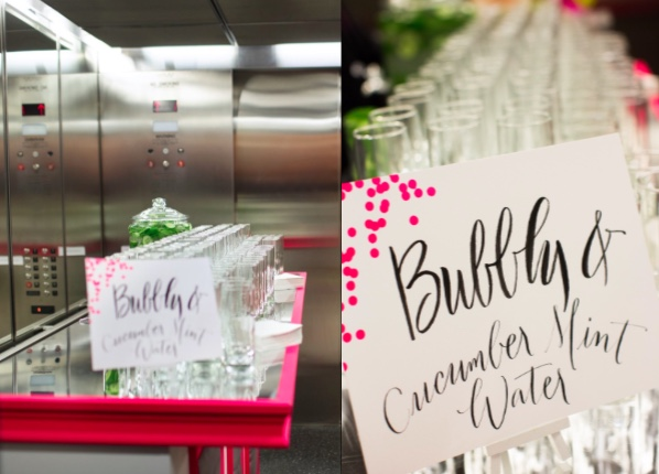 BARS IN THE NEWSEUM ELEVATORS FOR BUBBLY & INFUSED WATER
