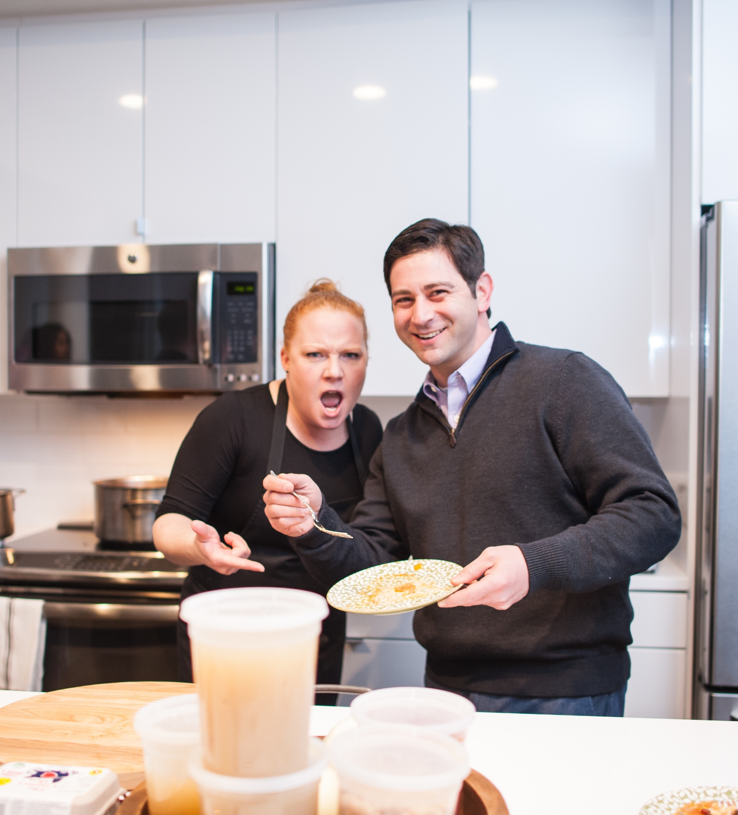 Chef Tiffani Faison and a very happy YEC member