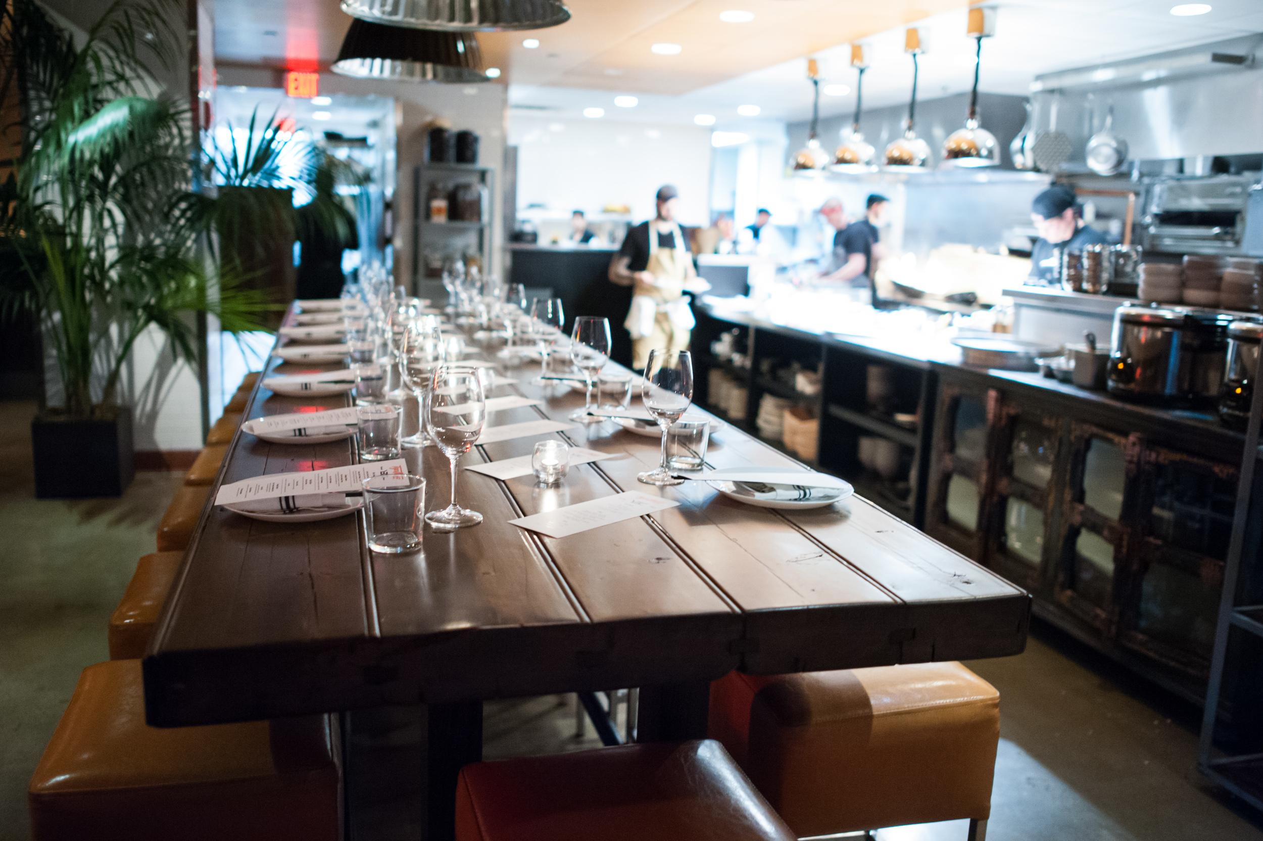 Chef's table at Tiger Mama
