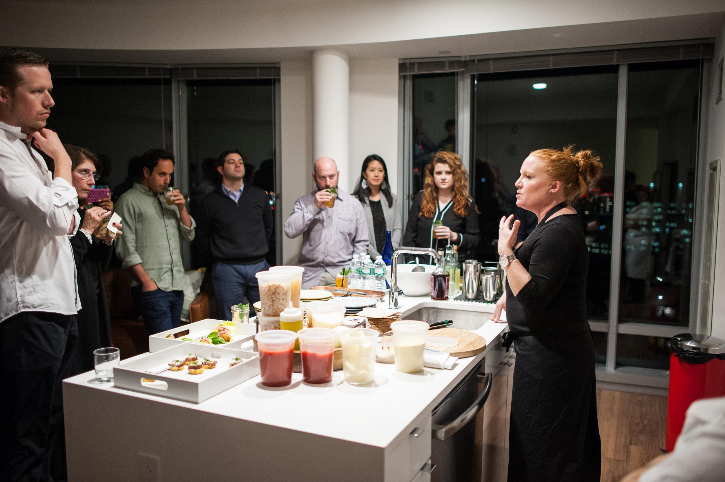 Chef Tiffani Faison's cooking demonstration